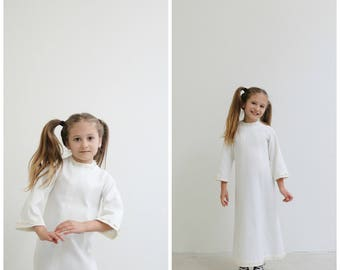 1970s Angelic Hippie Dress /// Size 4t/5t
