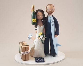Unique Cake Toppers - Customized Bride & Groom Wedding Cake Topper