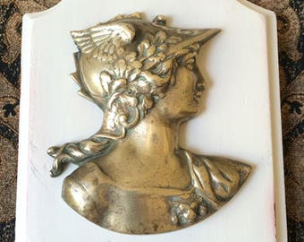 French Bronze Wall Plaque