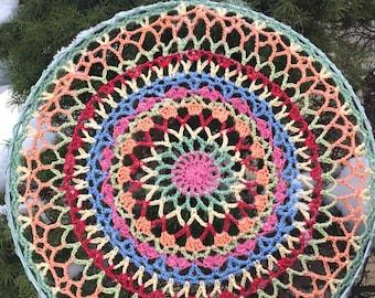 Mandala Dream Catcher- Wall Hanging Art - Crochet Mandala