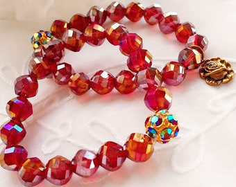 JULY Special July Birthday Gift - Stacking Bracelets - Rose Jewelry - JULY SPECIAL Bracelets
