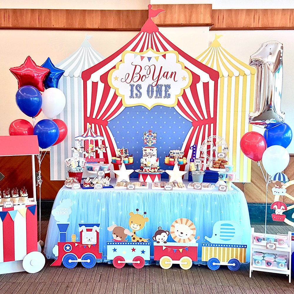 Carnival Circus Birthday Banner Backdrop Large Scale Carnival