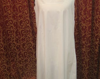 "1900's, 38"" bust, white lawn cotton full length chemise"