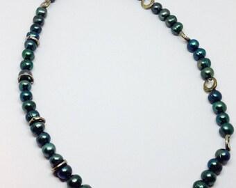 Swarowski crystal pearl shaped necklace