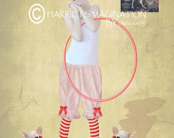 Pop Surrealism Art Print - Clown Girl & Chihuahuas - Clown Girl Art Print - Chihuahuas Art Print - I Want To Join The Circus