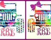 Jeep Monogram Vinyl Decal Sticker Die Cut Custom Car Window Laptop Tumbler Water Bottle Bumper - You Choose Size and Color