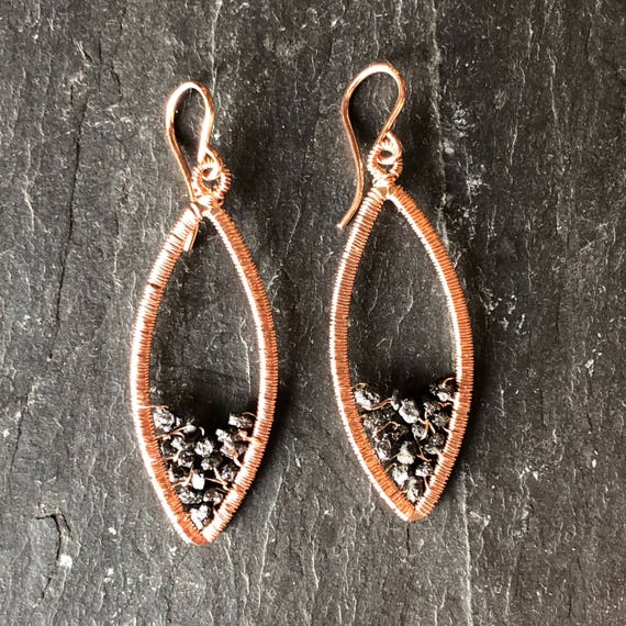 Carbonado Earrings