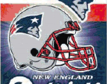 NFL New England Patriots Banner Counted Cross Stitch Pattern