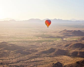 Floating - Hot Air Balloon, Arizona, Desert Hot Air Balloon Ride, Phoenix