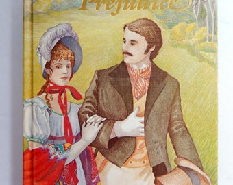 Pride and Prejudice, Jane Austen, illustrated hardcover book, 1984, British literature