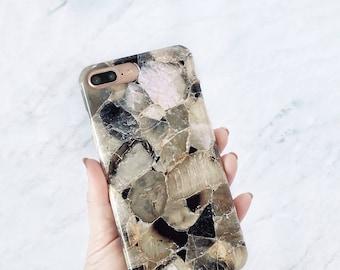 Smoke Quartz Phone Case iPhone 8 Plus Case, Galaxy S8, Minimalist Fashion Gift