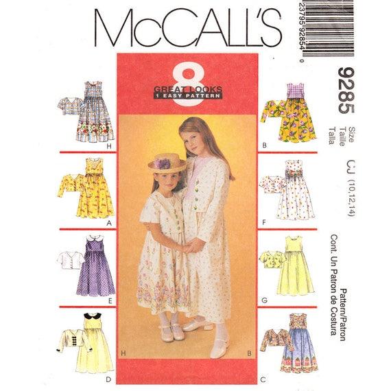 McCalls 9285 Girls Cropped Jacket & Prairie Dress Pattern Tween Girl Size 10 12 14