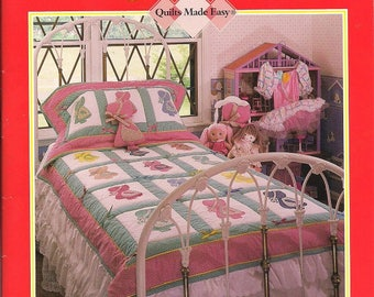Sunbonnet Sue's Neighborhood Quilt Book full size Applique Patterns Quilts Made Easy 9 projects Fisherman Fred Indian Girls Overall Sam