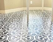 Augusta Tile Stencil - Portuguese Tile Stencils - DIY Faux Tiles - Reusable Stencils for Easy and Fun DIY Home Decor