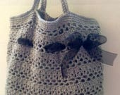 Crochet Shopping Bag, Produce Bag, Crochet Beach Bag, Cotton Mesh Bag, Crochet Market Bag, Unlined Tote,Mesh Produce Bag,Washable Market Bag