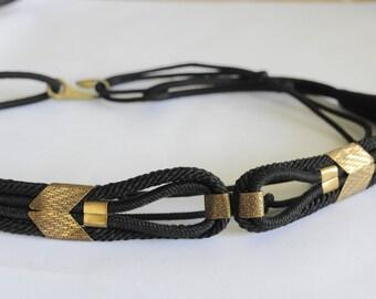 Unique Vintage Belt Boho Geometric Statement South American Native Ladies Womens