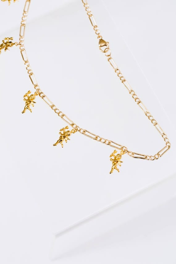 Gold Cupid Angel BB Choker