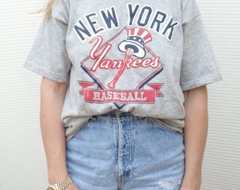 New York Yankees Vintage Grey Crewneck Shirt