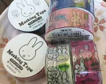 Miffy Tape - PICK ONE - Japanese Masking Tape - 15mm x 5M