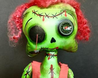 OOAK Green Zombie Girl