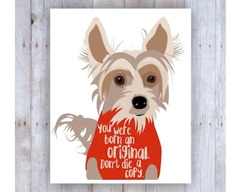 Chinese Crested Dog, Famous Quote, Dog Decor, Fun Art, Dog Art, Small Dog, Dog Sweater, Dog Picture, Dog Graphic, Cute Dog, Dog Wall Decor