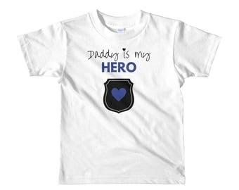 Daddy is my Hero - Short sleeve kids t-shirt