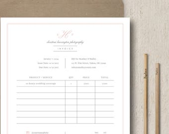 Photography Forms - Photographer Invoice - Receipt Template for Photographers - Photoshop Templates