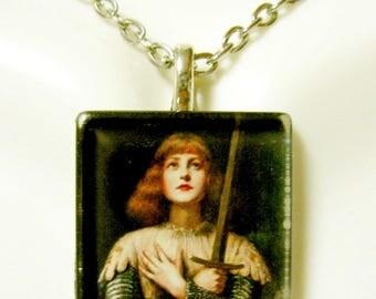 Saint Joan of Arc pendant with chain - GP02-149