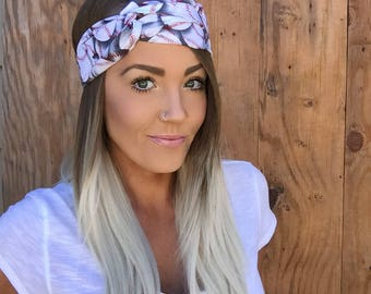 Take Me Out to The Ball Game Pinup Turban Headband || Hair Band Baseball Girl Cotton Workout Yoga Fashion Red White Gray Grey Head Scarf