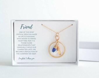 Best Friend Birthday Gift - Custom Friendship Necklace - Gold Friend Necklace - Custom Best Friend Necklace - Custom Girlfriend Gift