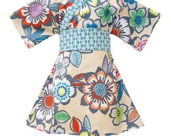 Girls Kimono ACAPULCO Yukata Modern Kimono Girls Baby Toddler Japanese