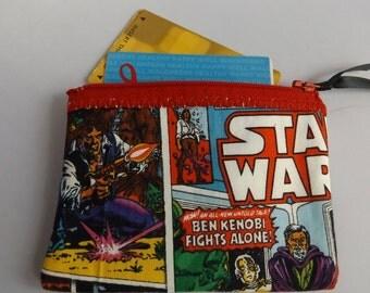 Star Wars Comic  Fabric Coin Purse- Handmade  Lucas