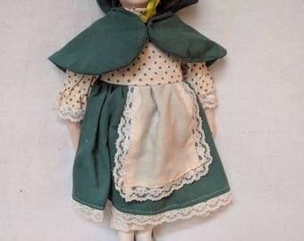 "Porcelain Doll - Ireland National Dress - 10"""