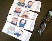 Inception Chibi Bookmarks 2 - set of 4 - Arthur Eames Saito Mal Slack Emoji