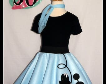 My Beautiful Baby Blue Prancing Poodle Skirt Made In Your Choice Of Size And