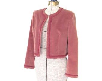 70s Suit Jacket * 1970s Velvet Blazer * Vintage Boxy Jacket * Medium