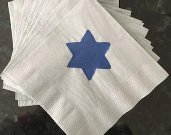 Hanukkah Star of David Paper Napkins - Cocktail/Luncheon/Dinner - Set of 24