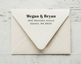 Self Inking Return Address Stamp, Custom Stamp, Personalized Stamp, Wedding Stamp, Housewarming Gift, Self Inking Address - Style #99