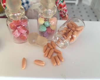 Miniature Jar Filled with Cookies, Dollhouse Miniature, 1:12 Scale, Mini Food, Dollhouse Food, Accessory, Decor, Crafts