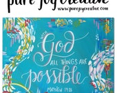 All things are possible with God 8x10 digital download