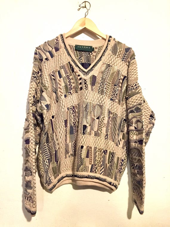 90s Vintage Textured Coogi Inspired Sweater