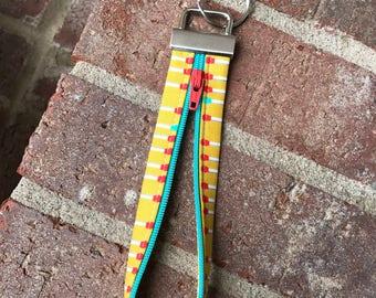 Zipper Key Fob, Key Fob, Wristlet Keychain, Keychain, Fobio Key Fob, Wristlet Key Fob