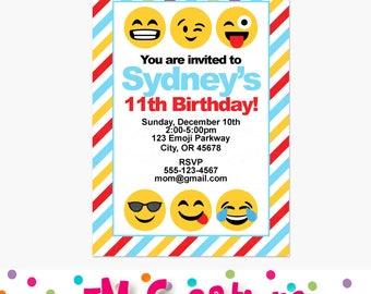 Emoji Birthday Party Invitations Emoji Birthday Party