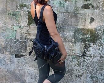 Leggings| FREE SHIPPING | Organic Cotton | Fold over Waist | Woman | Urban & Festival | Yoga | Sexy | Small Batch | Ethical Fashion |