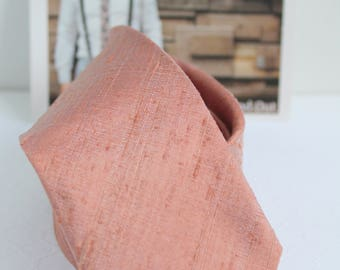 Rose Gold Raw Silk Neck Tie-Limited Quantities