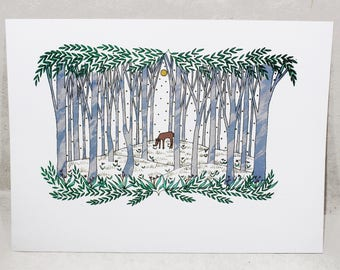 The Deer - Limited Edition Hand-Pulled Screen Print