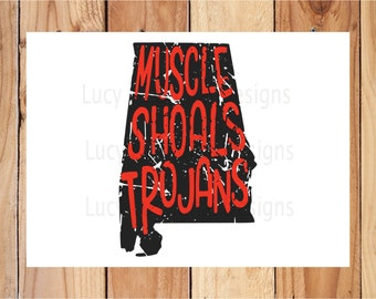 Distressed - MUSCLE SHOALS TROJANS