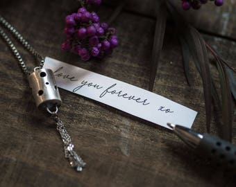 Secret Message Necklace Unique Locket Sterling Silver Lantern Pendant Personalized Necklace Gift for Her Girlfriend Gift Wife Gift Sister