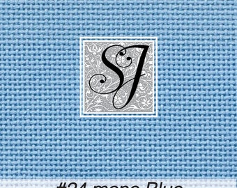 18x25 Zweigart Needlepoint Canvas #24 Congress Cloth BLUE blank for you to stitch or paint!
