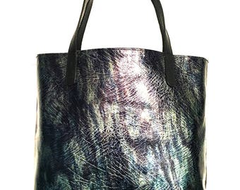 NEHALENNIA Patent Leather Tote